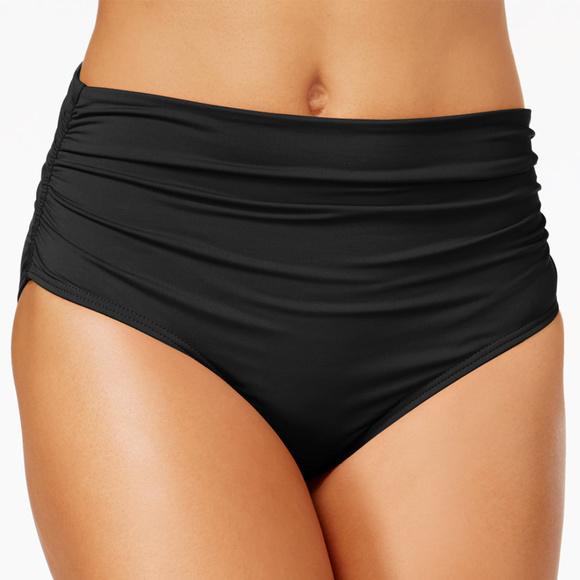 05782c2470 Anne Cole Swim | Convertible High Waist 3way Shirred Bikini Bottom ...